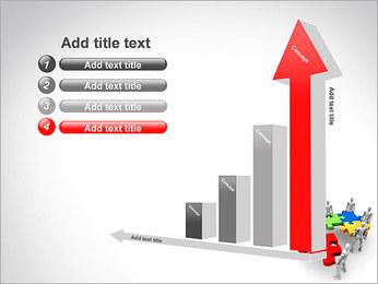 Personas Abstractas Con Puzzle Plantillas de Presentaciones PowerPoint - Diapositiva 6