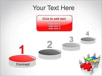 Personas Abstractas Con Puzzle Plantillas de Presentaciones PowerPoint - Diapositiva 7