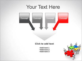 Personas Abstractas Con Puzzle Plantillas de Presentaciones PowerPoint - Diapositiva 8