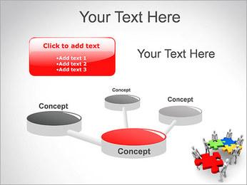 Personas Abstractas Con Puzzle Plantillas de Presentaciones PowerPoint - Diapositiva 9