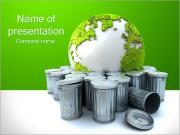 Groen Recycling Sjablonen PowerPoint presentaties