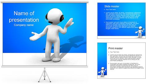 Hombre HelpDesk Plantillas de Presentaciones PowerPoint
