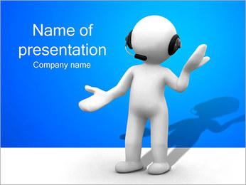 Hombre HelpDesk Plantillas de Presentaciones PowerPoint - Diapositiva 1