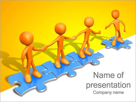 Ayudar a los demás Puzzle Plantillas de Presentaciones PowerPoint