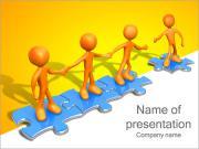 Het helpen van anderen Puzzle Sjablonen PowerPoint presentaties