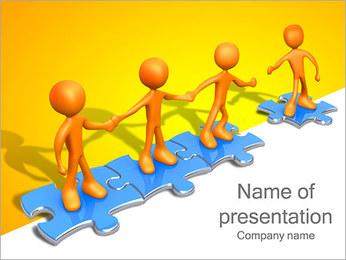 Ayudar a los demás Puzzle Plantillas de Presentaciones PowerPoint - Diapositiva 1