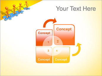 Ayudar a los demás Puzzle Plantillas de Presentaciones PowerPoint - Diapositiva 5