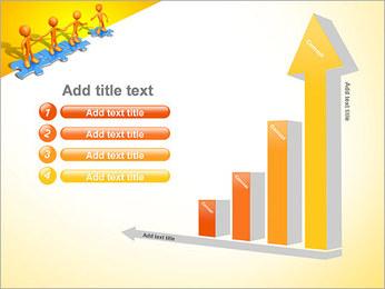 Ayudar a los demás Puzzle Plantillas de Presentaciones PowerPoint - Diapositiva 6