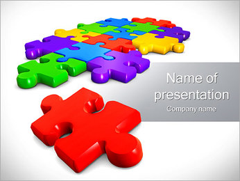 Combination Of Puzzle Elements PowerPoint Template