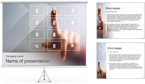 Los números en la pantalla táctil Plantillas de Presentaciones PowerPoint