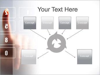 Los números en la pantalla táctil Plantillas de Presentaciones PowerPoint - Diapositiva 10