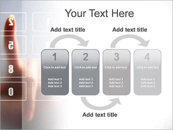 Los números en la pantalla táctil Plantillas de Presentaciones PowerPoint - Diapositiva 11