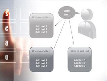 Los números en la pantalla táctil Plantillas de Presentaciones PowerPoint - Diapositiva 12