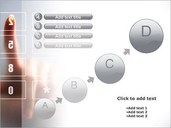 Los números en la pantalla táctil Plantillas de Presentaciones PowerPoint - Diapositiva 15