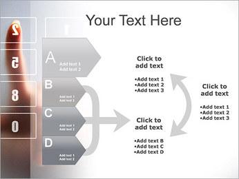 Los números en la pantalla táctil Plantillas de Presentaciones PowerPoint - Diapositiva 16
