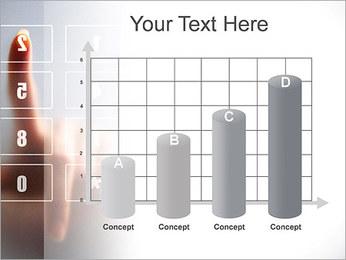 Los números en la pantalla táctil Plantillas de Presentaciones PowerPoint - Diapositiva 21