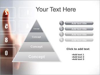 Los números en la pantalla táctil Plantillas de Presentaciones PowerPoint - Diapositiva 22