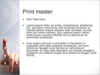 Los números en la pantalla táctil Plantillas de Presentaciones PowerPoint - Diapositiva 24