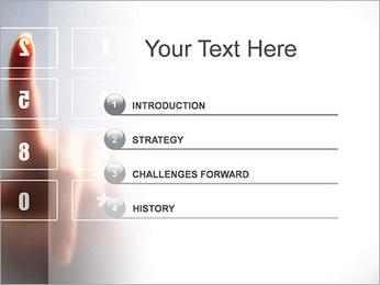 Los números en la pantalla táctil Plantillas de Presentaciones PowerPoint - Diapositiva 3