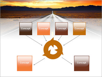 Road At Sunset PowerPoint Template - Slide 10