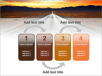 Road At Sunset PowerPoint Template - Slide 11