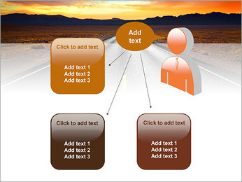 Road At Sunset PowerPoint Template - Slide 12
