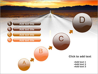 Road At Sunset PowerPoint Template - Slide 15