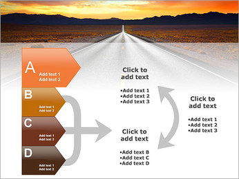Road At Sunset PowerPoint Template - Slide 16