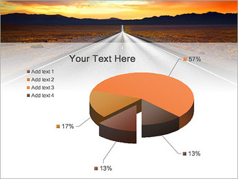 Road At Sunset PowerPoint Template - Slide 19
