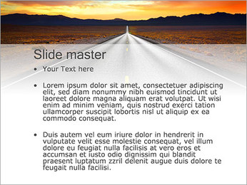 Road At Sunset PowerPoint Template - Slide 2