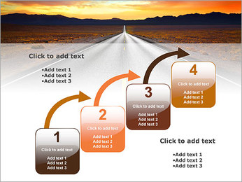 Road At Sunset PowerPoint Template - Slide 20