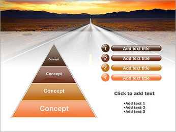 Road At Sunset PowerPoint Template - Slide 22