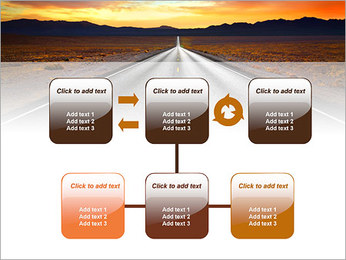 Road At Sunset PowerPoint Template - Slide 23