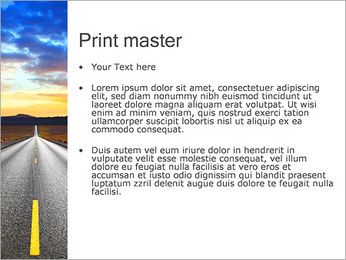 Road At Sunset PowerPoint Template - Slide 24