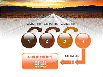 Road At Sunset PowerPoint Template - Slide 4