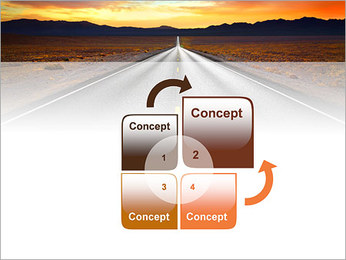 Road At Sunset PowerPoint Template - Slide 5