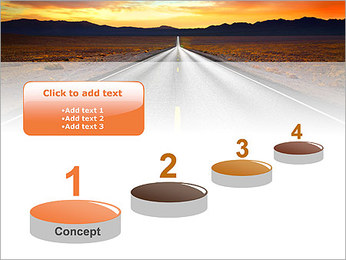 Road At Sunset PowerPoint Template - Slide 7