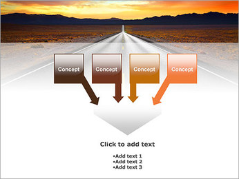Road At Sunset PowerPoint Template - Slide 8