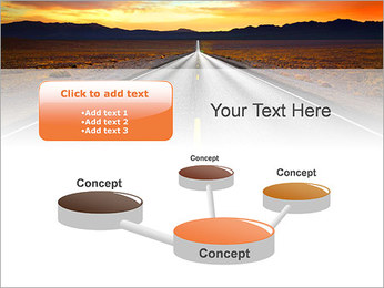 Road At Sunset PowerPoint Template - Slide 9