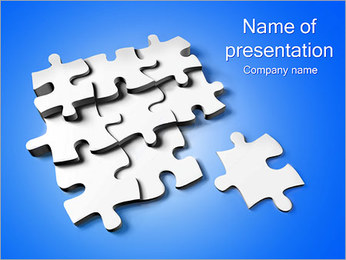 White Puzzle Parts PowerPoint Template