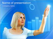 Woman Uses High Tech PowerPoint Templates