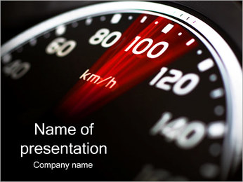 Speedometer In The Car PowerPoint Template