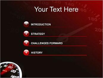 Compteur de vitesse dans la voiture Modèles des présentations  PowerPoint - Diapositives 3