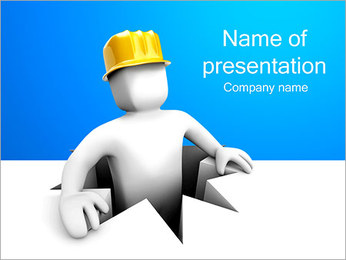 Abstraction Construction Man PowerPoint Template