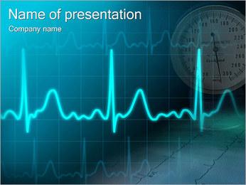 Cardiogramme régime Modèles des présentations  PowerPoint