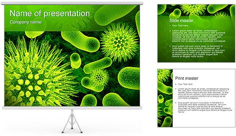 Médicaux Microorganismes Modèles des présentations  PowerPoint