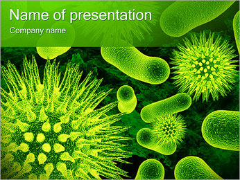 Medical Micro Organisms PowerPoint Template