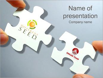 Equipo ideal Puzzle Plantillas de Presentaciones PowerPoint