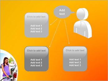Femme à la station essence Modèles des présentations  PowerPoint - Diapositives 12