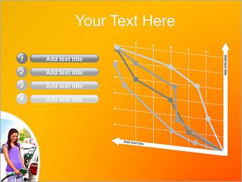 Femme à la station essence Modèles des présentations  PowerPoint - Diapositives 13